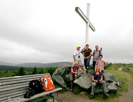 Gipfelrast auf dem Clemensberg