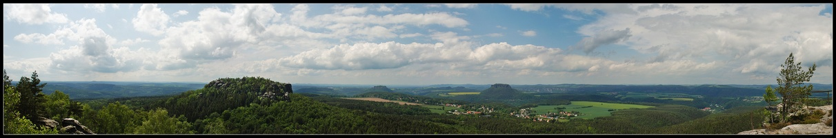 Papststein Panoramablick